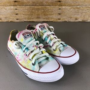 Hand Dyed Converse Low Top Sneakers Sz 8.5